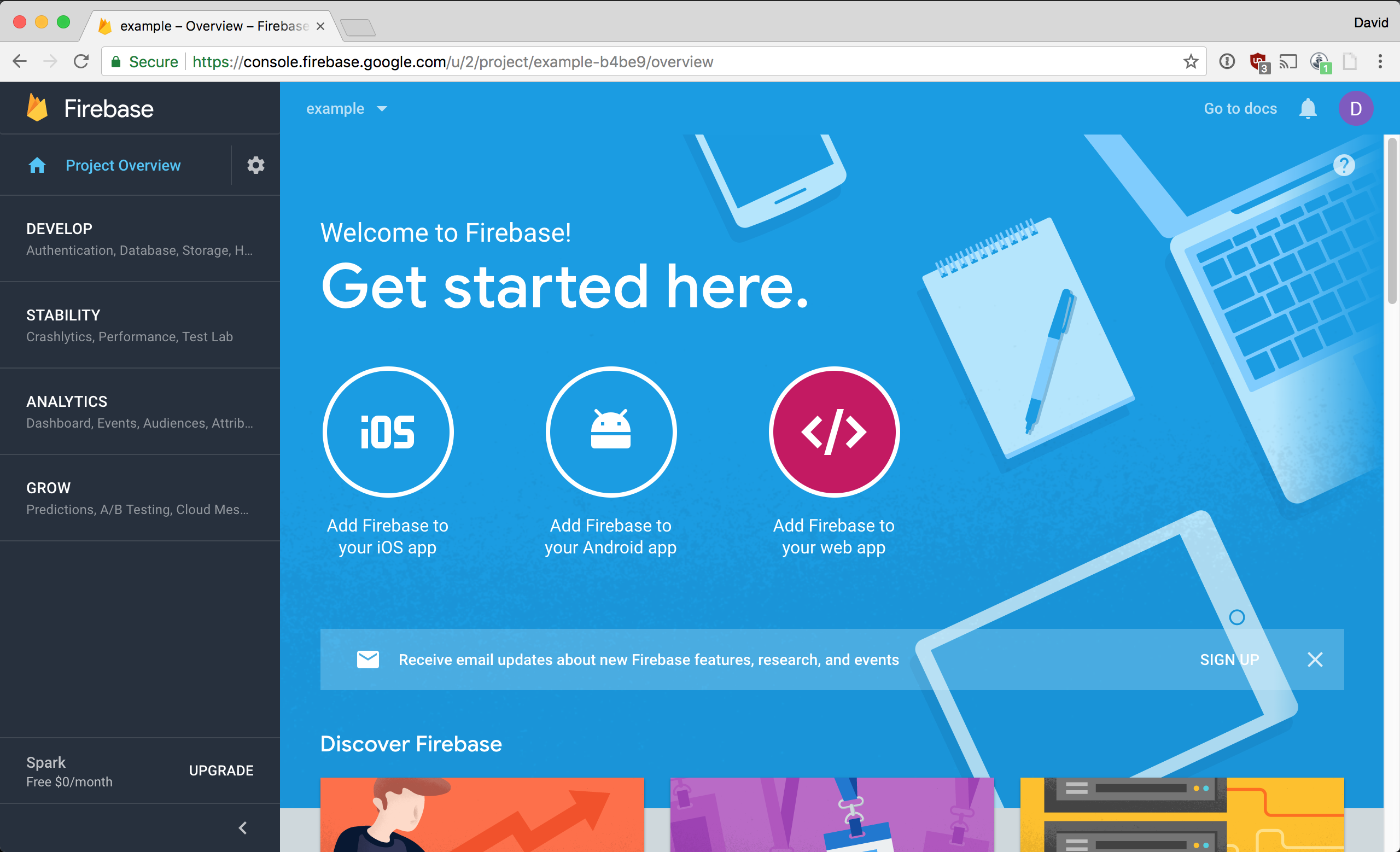 Click Add Firebase to your web app